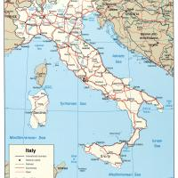 Europe- Italy Politcal Map