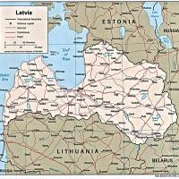Europe- Latvia Political Map