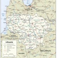 Printable Europe- Lithuania Political Map - Printable Maps - Misc Printables