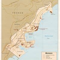 Europe- Monaco Political Map