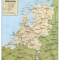 Europe- Netherlands Political Map