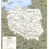 Europe- Poland Political Map