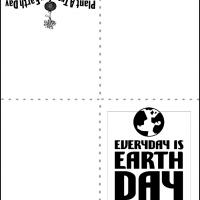 Printable Everyday is Earth Day - Printable Greeting Cards - Free Printable Cards