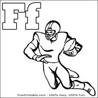 Printable F is for Football - Printable Flash Cards - Free Printable Lessons