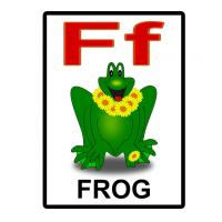 Printable F is for Frog Flash Card - Printable Flash Cards - Free Printable Lessons