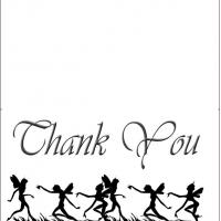 Printable Fairies - Printable Thank You Cards - Free Printable Cards