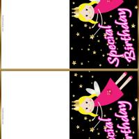 Fairy Golden Stars Gift Cards