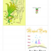 Printable Fairy Princess Invitation - Printable Party Invitation Cards - Free Printable Invitations