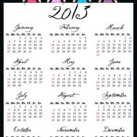 Printable Fairy Princesses 2013 Calendar - Printable Yearly Calendar - Free Printable Calendars