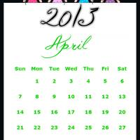 Fairy Princesses April 2013 Calendar