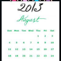 Printable Fairy Princesses August 2013 Calendar - Printable Monthly Calendars - Free Printable Calendars