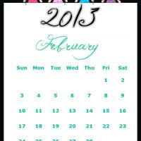 Printable Fairy Princesses February 2013 Calendar - Printable Monthly Calendars - Free Printable Calendars
