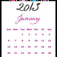 Printable Fairy Princesses January 2013 Calendar - Printable Monthly Calendars - Free Printable Calendars