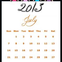 Fairy Princesses July 2013 Calendar
