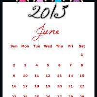 Printable Fairy Princesses June 2013 Calendar - Printable Monthly Calendars - Free Printable Calendars
