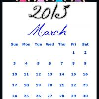 Fairy Princesses March 2013 Calendar
