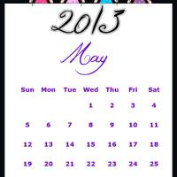 Printable Fairy Princesses May 2013 Calendar - Printable Monthly Calendars - Free Printable Calendars