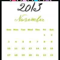 Printable Fairy Princesses November 2013 Calendar - Printable Monthly Calendars - Free Printable Calendars