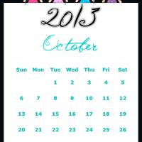 Printable Fairy Princesses October 2013 Calendar - Printable Monthly Calendars - Free Printable Calendars