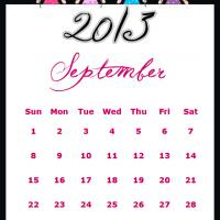 Printable Fairy Princesses September 2013 Calendar - Printable Monthly Calendars - Free Printable Calendars