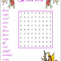 Printable Fairy Themed Word Search - Printable Word Search - Free Printable Games