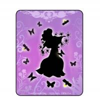 Fairy with Pink and Purple  Background Iron-on Transfer