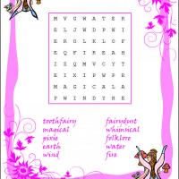 Printable Fairy Word Search - Printable Word Search - Free Printable Games