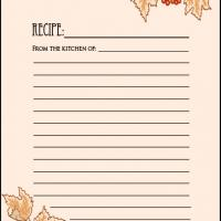Printable Fall Recipe Card - Printable Recipe Cards - Misc Printables