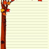 Printable Fall Writing Paper - Printable Stationary - Free Printable Activities