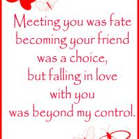 Falling in Love Beyond Control