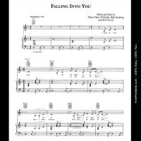 Printable Falling into You - Celine Dion - Printable Piano Music - Free Printable Music