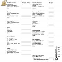 Printable Family Budget - Printable Templates - Free Printable Activities