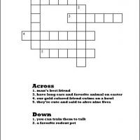 Printable Family Pets Crossword - Printable Crosswords - Free Printable Games