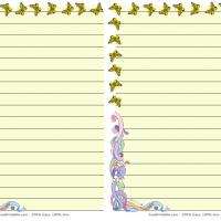 Printable Fantasy Butterfly Stationary - Printable Stationary - Free Printable Activities