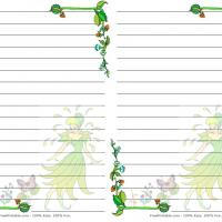 Printable Fantasy Fairy Floral Stationary - Printable Stationary - Free Printable Activities