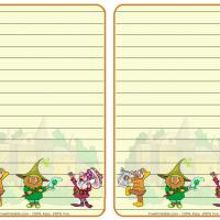 Printable Fantasy Gnomes Stationary - Printable Stationary - Free Printable Activities