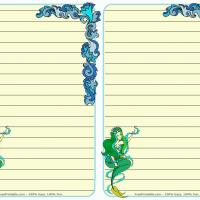 Printable Fantasy Mermaid Stationary - Printable Stationary - Free Printable Activities