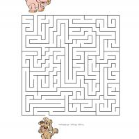 Printable Farm Animal Maze - Printable Mazes - Free Printable Games