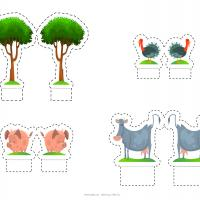 Farm Animals And Trees Paper Craft
