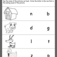 Printable Farm Theme Ending Consonants Review - Printable Kindergarten Worksheets and Lessons - Free Printable Worksheets