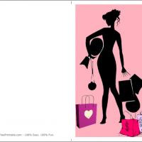 Printable Fashion Diva - Printable Greeting Cards - Free Printable Cards