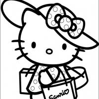 Printable Fashionable Hello Kitty - Printable Hello Kitty - Free Printable Coloring Pages