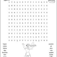 Printable Fastfood Word Search - Printable Word Search - Free Printable Games