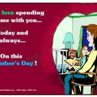Printable Father And Daughter Reading - Printable Fathers Day Cards - Free Printable Cards