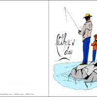 Printable Father And Son Fishing - Printable Fathers Day Cards - Free Printable Cards