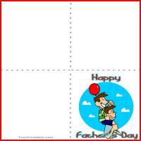 Printable Father and Son Fun - Printable Fathers Day Cards - Free Printable Cards