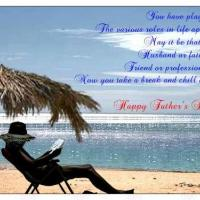 Printable Father Relaxing On The Beach - Printable Fathers Day Cards - Free Printable Cards