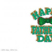 Printable Father's Checkered Ribbon - Printable Fathers Day Cards - Free Printable Cards