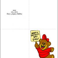 Printable Father's Day Bear - Printable Fathers Day Cards - Free Printable Cards