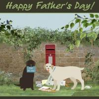 Father's Day Greeting Delivered By The Dogs